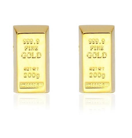 Cufflinks golden brick