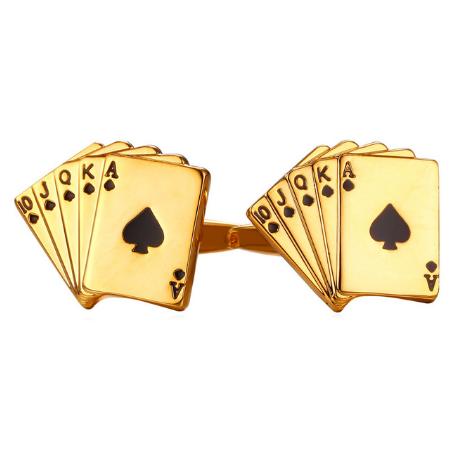 Gold Straight cufflinks