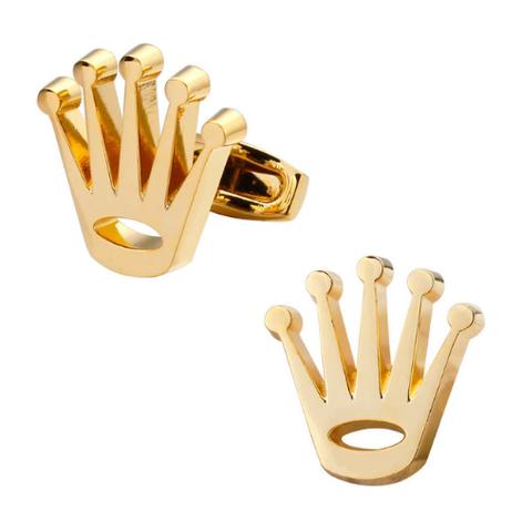Cufflinks golden crown - 1