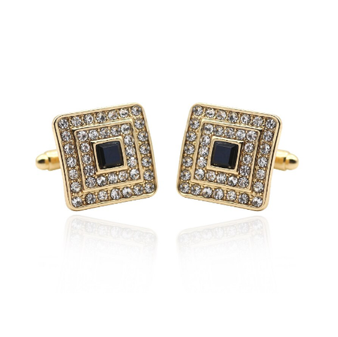 Luxury Black Crystal Cufflinks