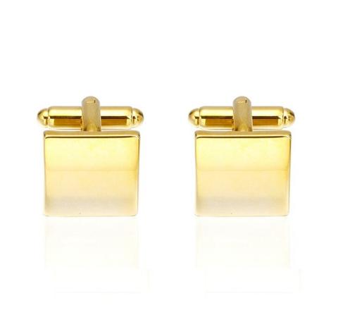 Gold Metal Square Cufllinks