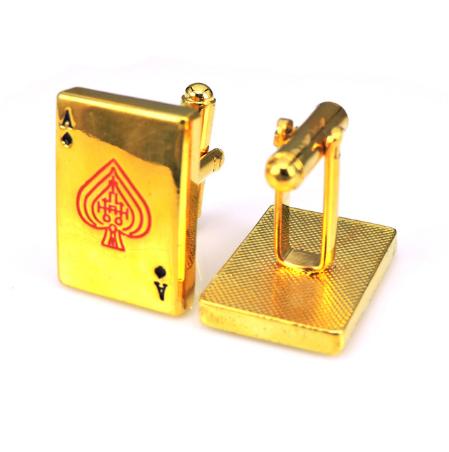 Gold ace cufflinks