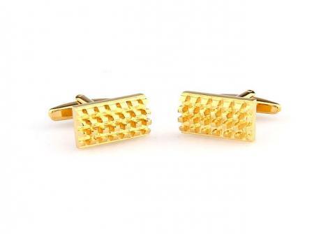 Gold Metal Rectangle Cufflinks