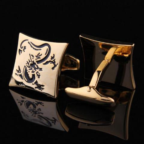 Gold Chinese Dragon Cufflinks