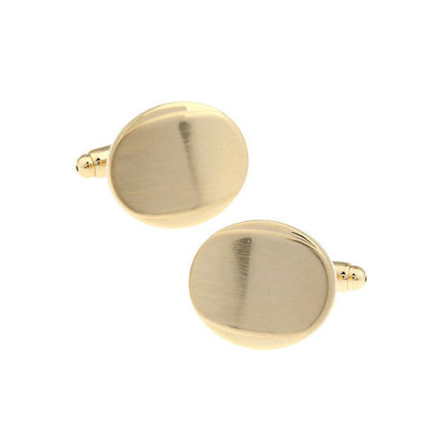 Cufflinks with oval engraving