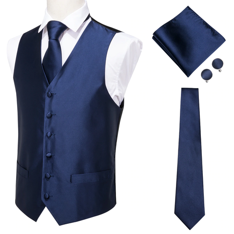 Blue vest for a suit with accessories - 1