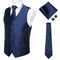 Blue vest for a suit with accessories - 1/5