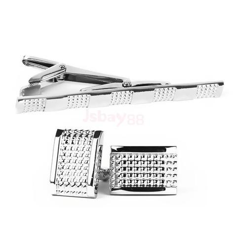 Elegant Cufflinks and Tie Clip Set