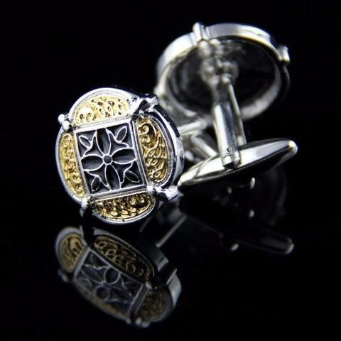 Cufflinks gold ornament