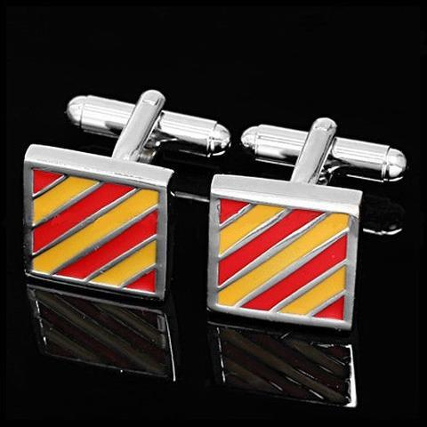 Cufflinks red and yellow