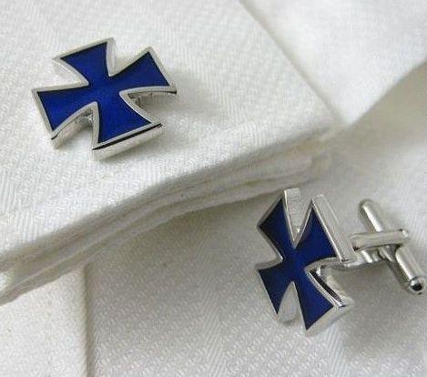 Blue War Cross Cufflinks