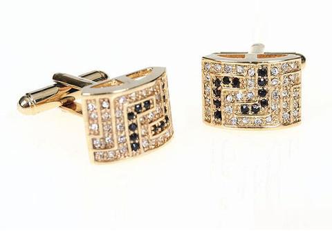 Luxury Rectangle Swarowski Element Cufflinks - 1