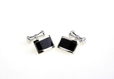 Stylish Black Center Cufflinks - 2