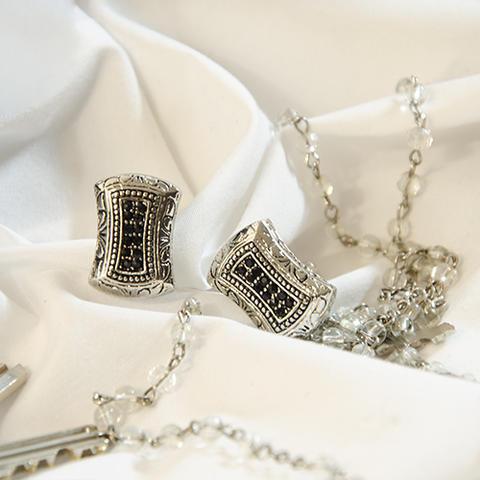 Silver mosaic cufflinks - 2