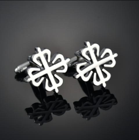 Silver snowflake cufflinks - 2