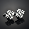 Silver snowflake cufflinks - 2/2
