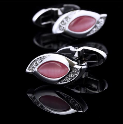 Vintage pink cufflinks - 2