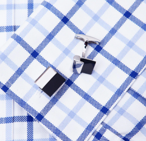 Black plate cufflinks - 2
