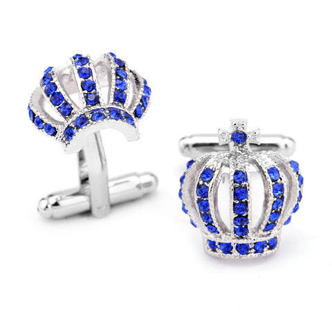 Blue Royal Crown Cufflinks - 2
