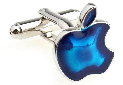 Blue Apple Sign Cufflinks - 2