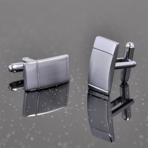 Rectangular Metal Matte Cufflinks - 2