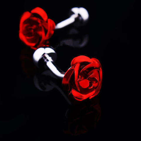 Red Rose Cufflinks - 2