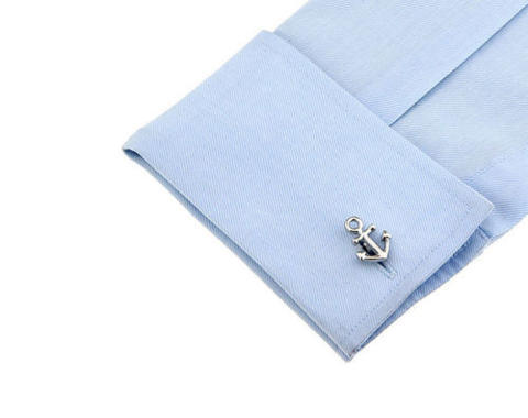 Navy Anchor Cufflinks - 2