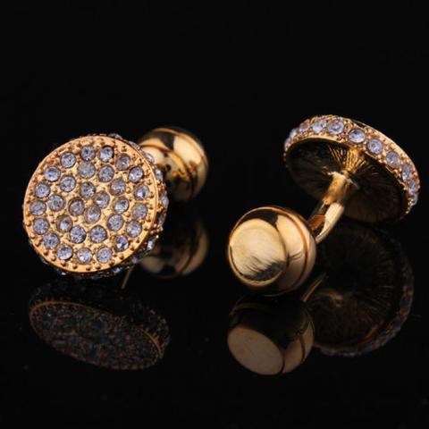Luxury Circular Crystals Cufflinks - 2