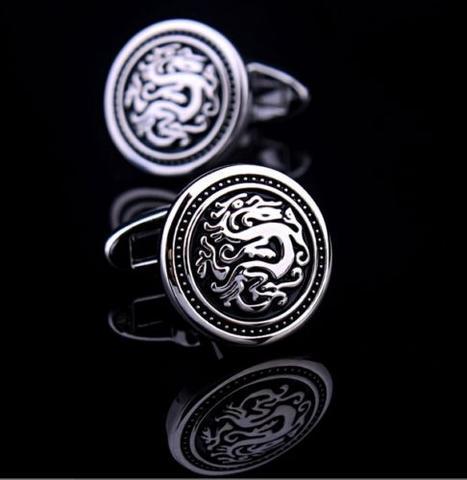 Round Shield with Dragon Cufflinks - 2