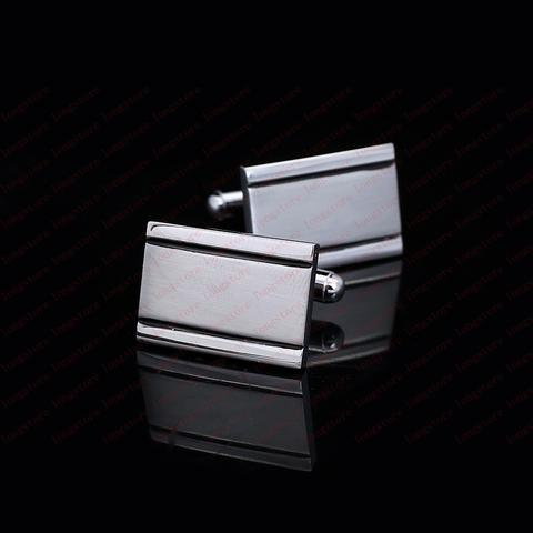 Personalised Engraved Rectangle Two Lines Cufflinks - 2