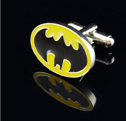 Enamel Yellow Batman Logo Cufflinks - 2