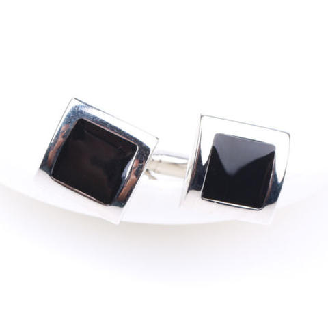 Stylish Black Cufflinks - 2