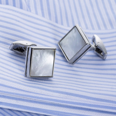 Cufflinks Pearl Squares - 2