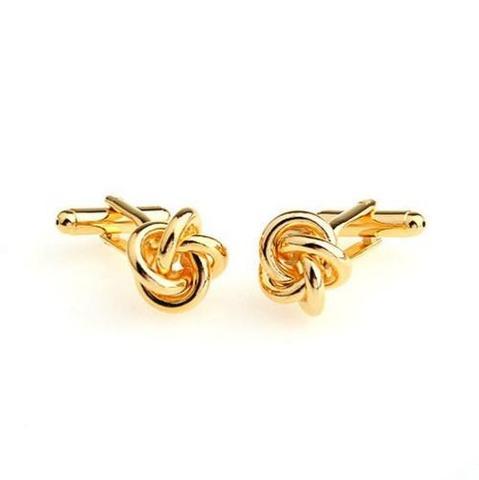 Gold Metal Knot Cufflinks - 2