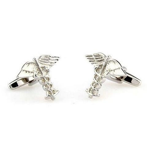 Rod of Asclepius Cufflinks - 2