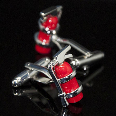 Red Fire Extinguisher Cufflinks - 2