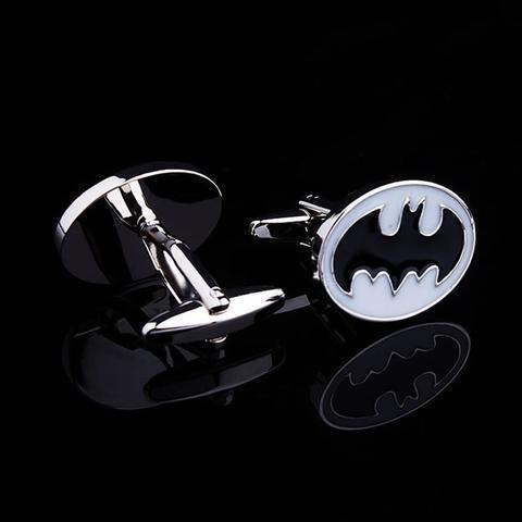 Enamel White Batman Logo Cufflinks - 2