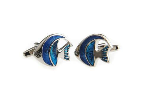 Little Blue Fish Cufflinks - 2