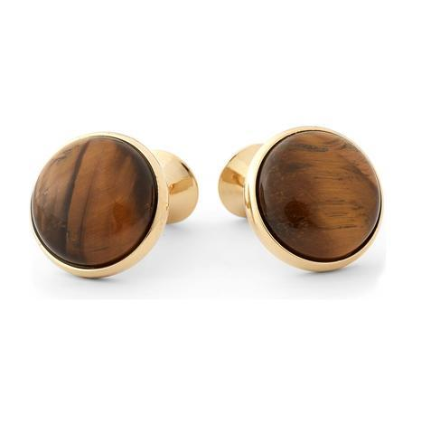 Cufflinks with golden tiger eye - 2