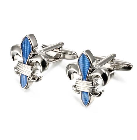 Cufflinks Lepton Blue Fleur De Lis - 2