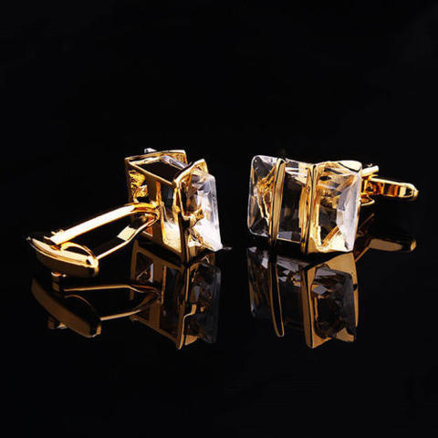 Gemstone Gold Metal Cufflinks - 2