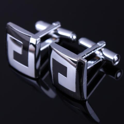 Labyrinth Design Square Cufflinks - 2