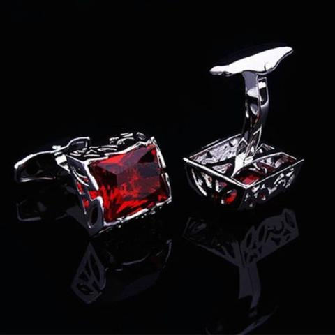 Faceted Ruby Crystal Dream Cufflinks - 2