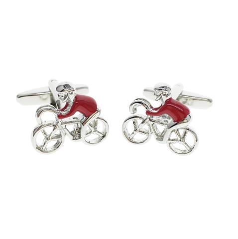 Cufflinks Red Cyclist - 2