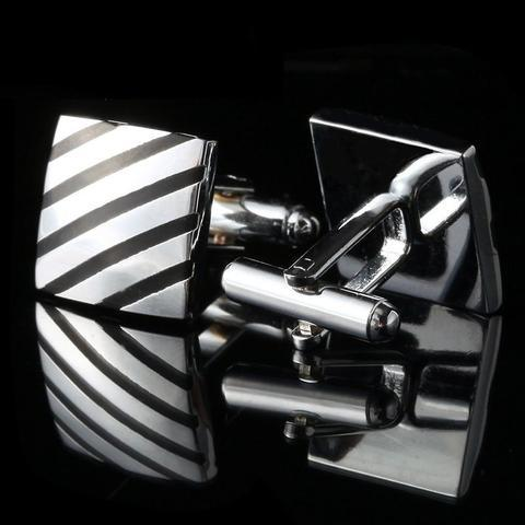 Diagonal Strips Square Cufflinks - 2