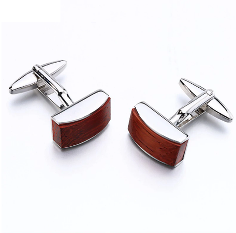 Cufflinks wooden strip - 2
