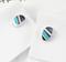 Cufflinks colored stripes - 2/2