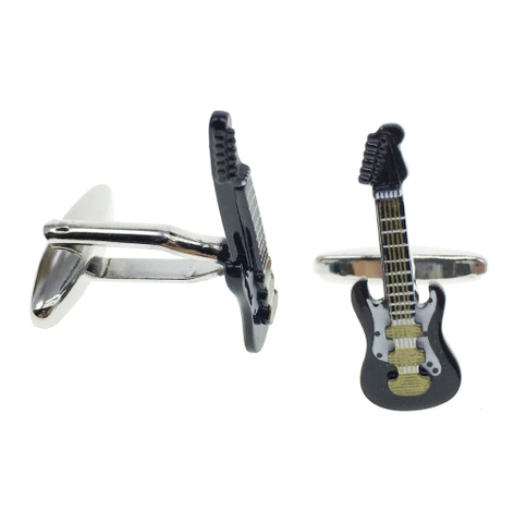Cufflinks electric guitar black - 2
