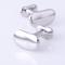 Silver bean cufflinks - 2/2