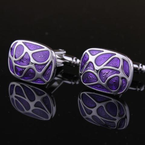 Violet Mosaic Cufflinks - 2